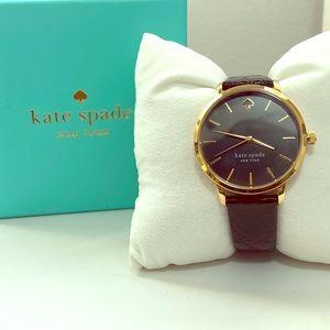 Kate Spade Metro Black Embossed Watch